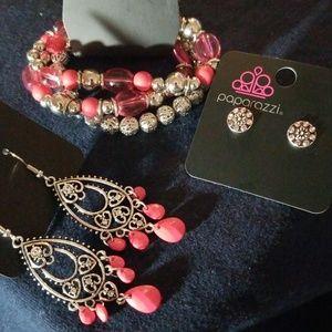 Pink jewelry set